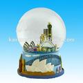 La caja musical de agua globo globo de nieve-- de sydney
