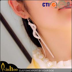 China factory supplies making fashion long tassel earrings jewellery