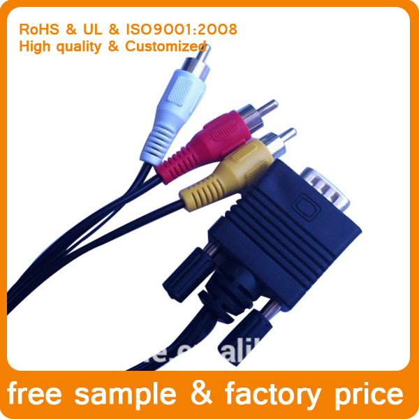 free sample factory price High-quality cable vga rca