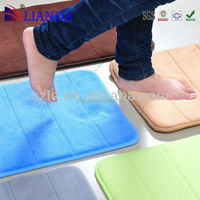 Decorative custom design microfiber color changing loofah padded bath mat