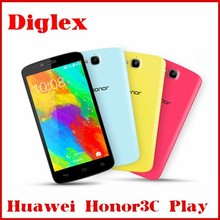 Original Huawei Honor 3C Play Hol-U10 MT6582 Quad Core 1.3GHz 5 inch IPS 1280x720p 8.0MP Dual SIM 1G RAM 16GB ROM WCDMA GPS