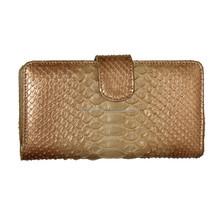 2015 golden genuine leather wallet natural exotic skin wallet