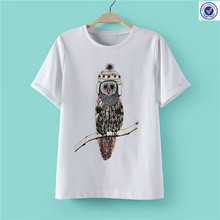 white short sleeve t-shirt embroidery, t-shirt embroidery with animal