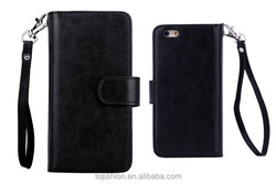 Wallet Case Bag For iPhone 6 With Built-In 9 Card Slots, Wholesale China
