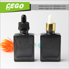 Top quality 30ml rectangular fancy glass liquor bottle 30ml with color childproof & tamper dropper cap for e cig