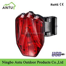 New arrival rear bike light bicycle LED light usb rechargeable bicycle light