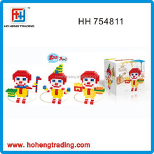 2015 Wonderful Intelligence Building Blocks Toys ,3 in 1 Clown Plastic Building Blocks