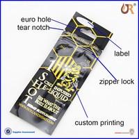Custom printed zip lock self adhesive plastic bags