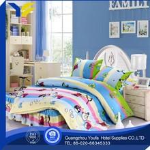 wholesale popular 2014 new 100% polyester children cartoon bedding sheets