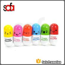 2015 latest design promotional capsule ballpoint pen
