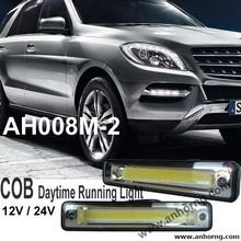Universal Car Auto Lighting headlamp COB daytime running light drl