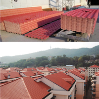 Higy quality light weight spanish plastic pvc roof tile