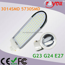 8w recessed downlight e27, g24 plc led lamp, 11w 13w recessed downlight plc for cfl