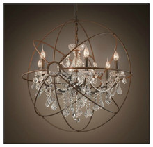 Modern Crystal Chandelier 4 Light Ceiling Fixture Lighting Lamp Pendant Glass