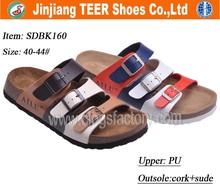 2015 New Style Italian Men Flat Sandals Cork Shoes