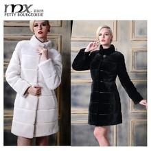New arrival fashion long rabbit fur coat for women