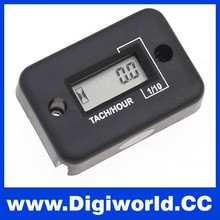 LCD Hour Meter Waterproof Engine Motorcycle Tachometer for 2 Stroke Gas Engine Auto Motorcycle