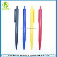Free school supplies samples multicolor plastic pen customized logo cheap