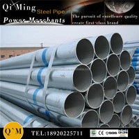 galvanized steel pipe for greenhouse frame/thermal conductivity galvanized steel pipe/steel round pipe sizes