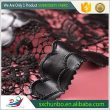 China Manufacturer Soft African rose lace wedding dress sewing trim