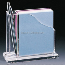 office table transparent acrylic pen display with holder
