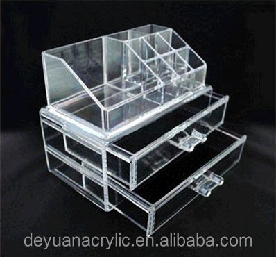 wholesale makeup organizer with draw/best selling acrylic makeup organizer