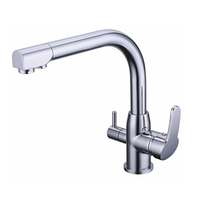 laiton double poign es robinet de cuisine m langeur potable filtre eau du robinet purifi e. Black Bedroom Furniture Sets. Home Design Ideas