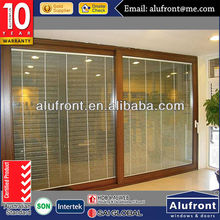Aluminum Lift and Sliding Door wiith Manual Blind