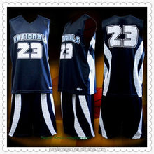 Durable hot sell basketball uniform design with oem