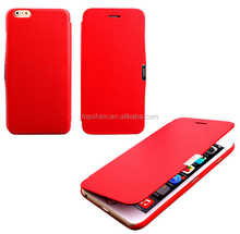 Super slim pu leather flip Case for iphone 6 ,for iphone 6 Magnetic flip pu leather case