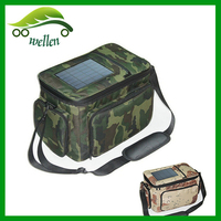 Customized high quality camouflage solar panel cooler bag
