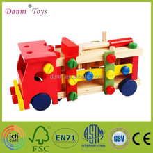 Wholesale Intelligent Diy Wooden Model Screw Car Toy Wooden Car