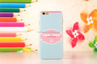 best price hard PC cell phone case for iphone 6 4.7/ 5.5 inch sugar cupcake pattern