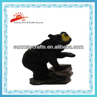 home decoration black bear figurine