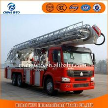 Ladder fire fighting truck, 54 meter height fire truck, aerial ladder fire truck