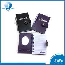 Hardcover with Mirror Spiral Leather Notebook