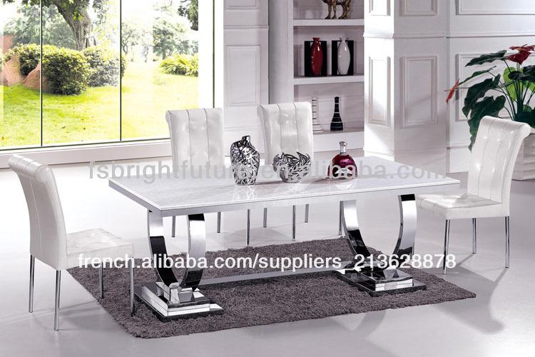Meubles de maison moderne en acier inoxydable table à  -> Meuble De Maison Moderne