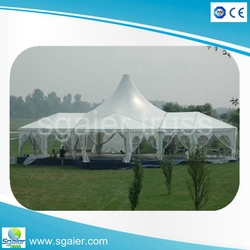 Heavy Duty Outdoor Domain Carport Enclosed Party Tent Canopy with Removable sidewalls, White