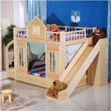 fashion bunk bed hot sale/ children bed /castle style bed made in China