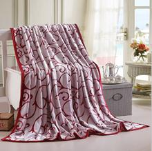 wholesale New style fine quality 320g cloud mink flannel blanket Super soft blanket