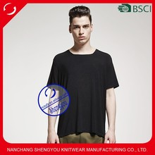 OEM factory 2015 new style fashion mens plain square collar tshirt