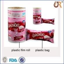 Popular plastic handle bag/custom made po/pe plastic bag for packing (zz172)