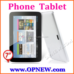 """7"""" 3G phablet GSM phone tablet pc MTK 6582 quad core android 4.4 4 bands 3G calling"""