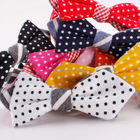 ODM Hot Sale Casual Colorful Printed Dot Cotton Conversational Bow Ties Wholesale