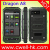 Dragon A8 IP67 mobile phone waterproof Android 4.2 4.0 Inch Capacitive Screen Dual SIM Card 5.0MP Camera WIFI GPS E-Compass