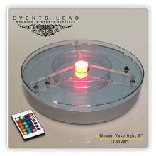 Led Base Light For Flower Vases With One Power Light In The Center LI-UV8
