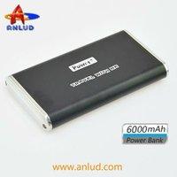 ALD-P06 aluminum alloy shell 6000mah portable handphone charger