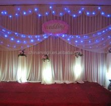 LED blue weeding party stage decorative curtain light for holiday