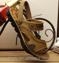 LD-SA0699 2015 Summer Fashion Leather Authentic Beach Shoes Roman Men Sandals