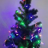 Free Shipping New Year Full Colors Christmas Led Lights 9.5m Length 72 Lamp Bulbs Tinsel Christmas Ornaments